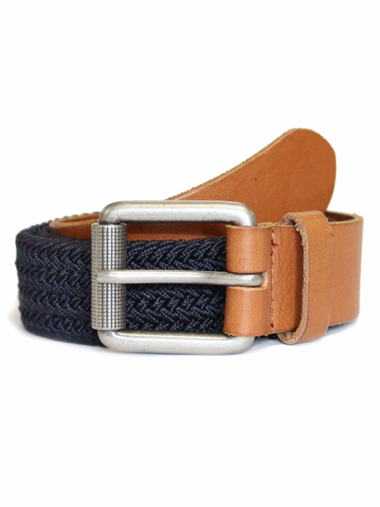 Raging Bull Braided Belt - Navy