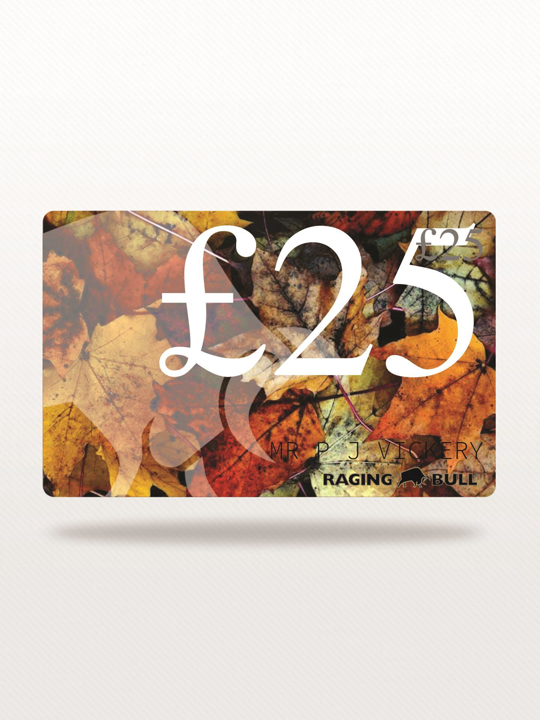 Raging Bull £25 e-Gift Card