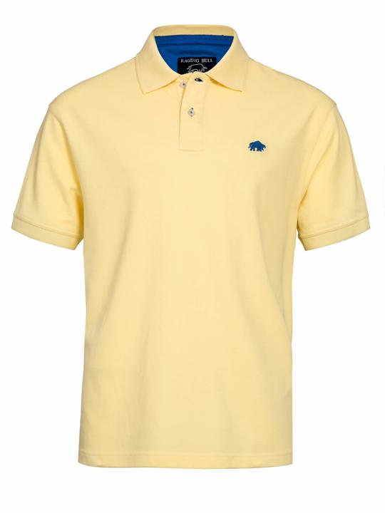 Raging Bull Signature Polo Shirt - Lemon