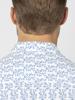 Raging Bull Short Sleeve Spring Leaf Print Shirt - Cobalt