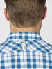 Raging Bull Short Sleeve Check Shirt - Mid Blue