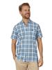 Raging Bull Big & Tall Short Sleeve Check Shirt - Mid Blue