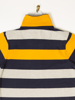 Raging Bull Irregular Stripe Polo - Navy