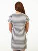 Raging Bull Breton Stripe Dress - White