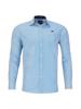 Raging Bull Long Sleeve Bengal Stripe Poplin Shirt - Mid Blue