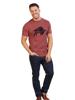 Model wearing Raging Bull T-Shirt