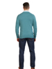 Raging Bull Big & Tall Crew Neck Cotton Cashmere Knit - Forest