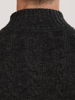 Raging Bull Big & Tall Button Neck Cable Knit - Dark Grey