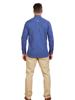 Raging Bull Long Sleeve Polka Dot Print Shirt - Mid Blue