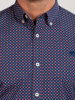 Raging Bull Long Sleeve Multi Circle Print Shirt - Navy