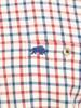 Raging Bull Big & Tall Long Sleeve Tattersall Check Shirt - Cream