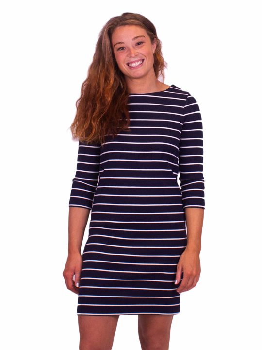 Raging Bull Jersey Ribbed Dress - Navy