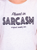 Raging Bull Fluent in Sarcasm Tee - White Fleck