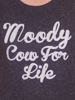 Raging Bull Moody Cow For Life - Charcoal