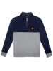 Raging Bull Boys 1/4 Zip Sweat - Grey Marl
