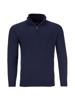 high quality navy knitted quarter zip jumper