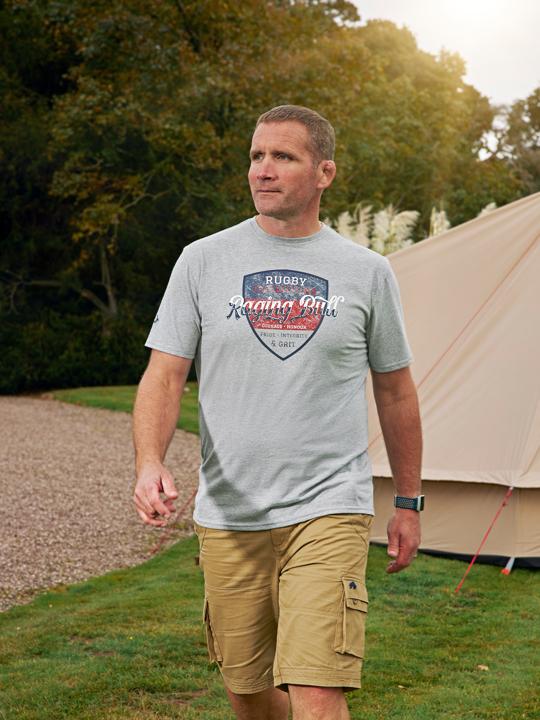 Raging Bull Big & Tall Champions T-Shirt - Grey Marl