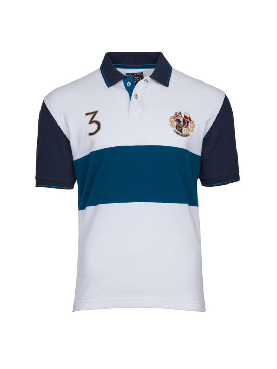 high quality crest white polo shirt