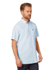 Raging Bull Short Sleeve Signature Linen Shirt - Sky Blue