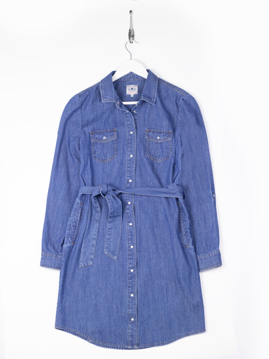 Raging Bull Denim Shirt Dress - Denim Blue
