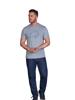 Raging Bull Scatter Stitch T-Shirt - Grey Marl