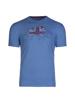 high quality blue bull graphic t-shirt