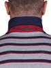 Raging Bull Big & Tall Stripe Pique Polo - Grey Marl