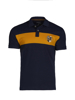 high quality contrast panel navy polo shirt