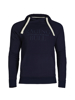 high quality navy pullover hoodie