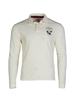high quality crested white rugby shirt