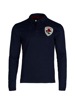 high quality crested navy rugby shirt