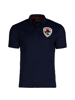 high quality crested navy polo shirt