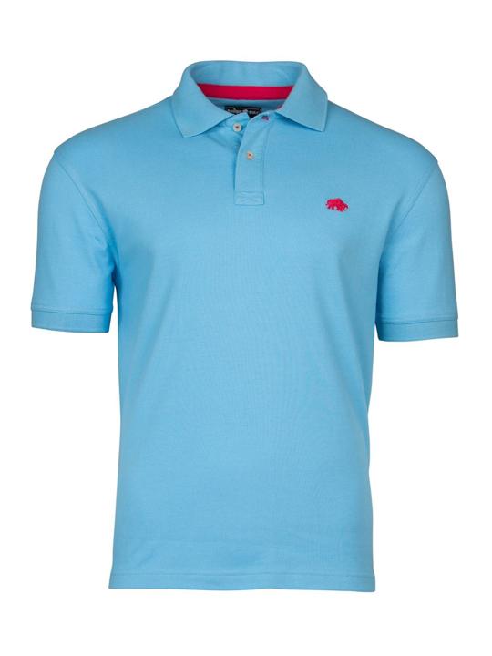 Raging Bull Signature Polo Shirt - Sky Blue