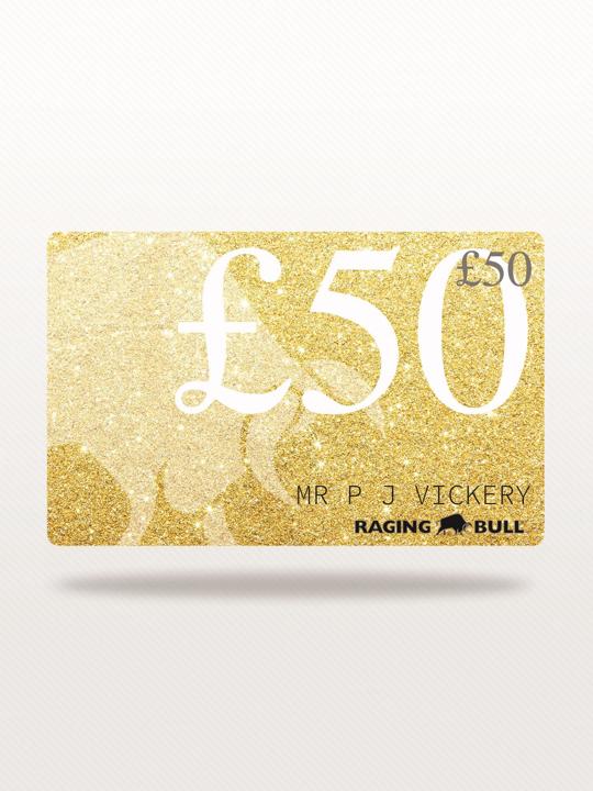 Raging Bull £50 e-Gift Card