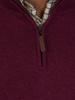 Raging Bull Big & Tall - Knitted Cotton/Cashmere Quarter Zip - Burgundy