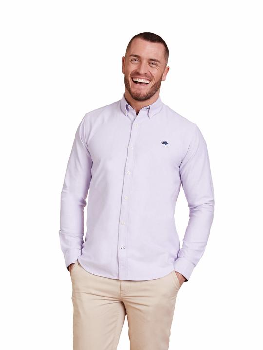 Raging Bull Big & Tall - Long Sleeve Signature Oxford Shirt - Purple