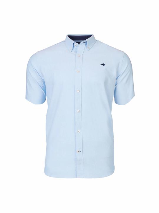 Raging Bull Big & Tall - Short Sleeve Signature Oxford Shirt - Sky Blue