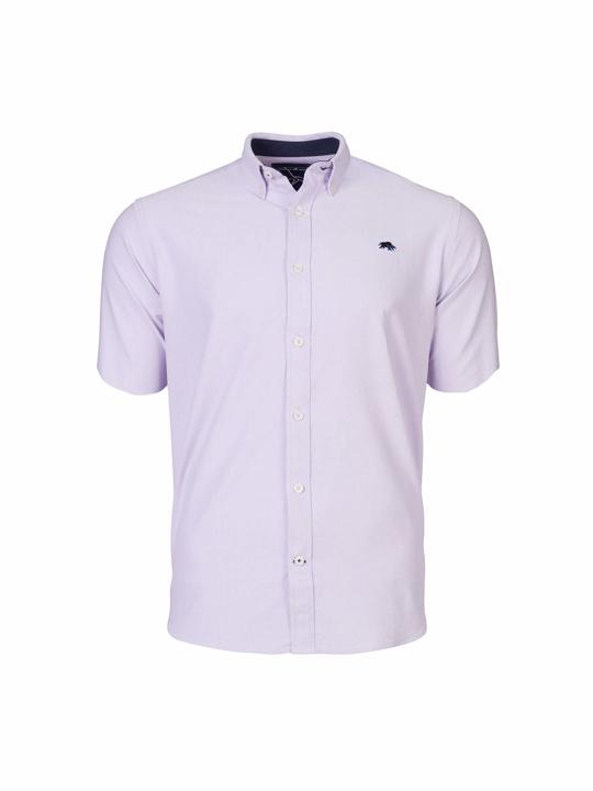 Raging Bull Big & Tall - Short Sleeve Signature Oxford Shirt - Purple