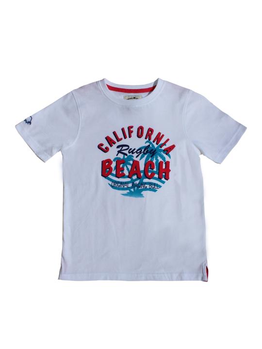 Raging Bull California Beach Rugby Tee - White