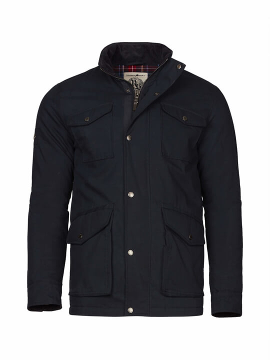 Raging Bull Peached Field Jacket - Navy