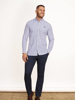 Raging Bull Big & Tall - Long Sleeve Bengal Stripe Shirt - Purple