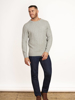 Raging Bull Big & Tall - Signature Cable Knit Crew Neck - Grey Marl