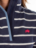 Raging Bull Yarn Dyed Stripe Quarter Zip  - Navy