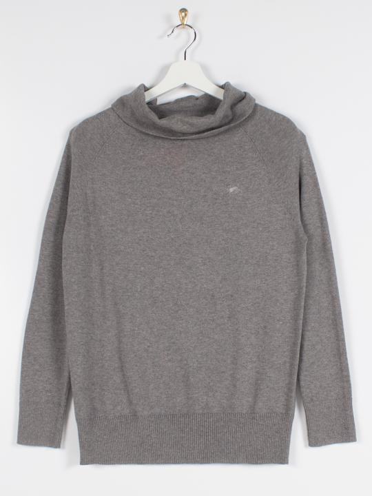 Raging Bull - Soft Roll Neck Pullover - Grey Marl