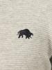 Raging Bull Big & Tall - Ribbed Quarter Zip - Grey