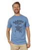 Raging Bull Big & Tall Paisley Bull Head Tee - Denim Blue