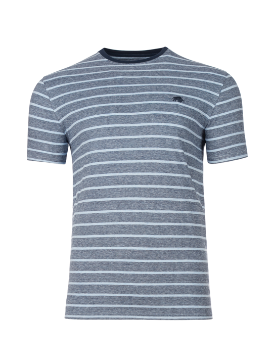 Raging Bull Big & Tall Feeder Stripe Tee - Sky Blue