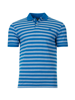 Raging Bull Big & Tall Birdseye Stripe Polo - Cobalt Blue