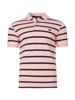 Raging Bull Big & Tall Breton Stripe Polo - Pink