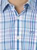 Raging Bull Long Sleeve Check Shirt - Sky Blue